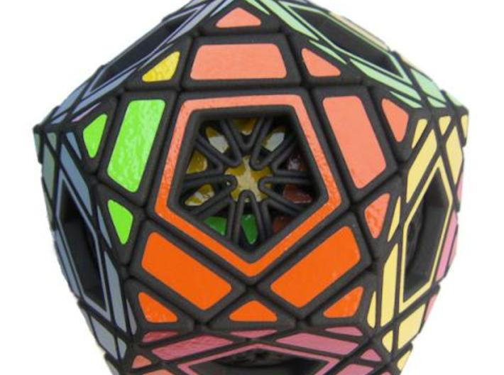 Multidodecahedron 3d printed Detail of a face