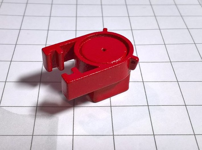 1 50 Square hat D62 for pole 8MM for Weserhutte 3d printed