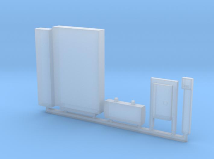 HO U-Bahn Platform Furniture 3d printed