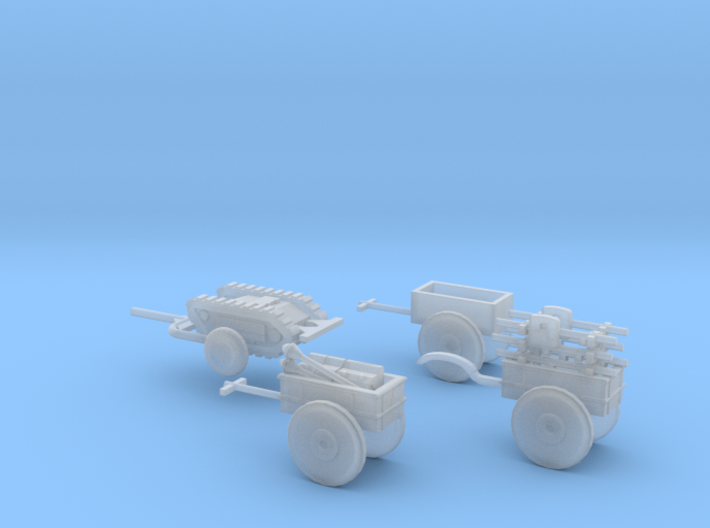 1/144 Kettenkrad trailer set 3d printed