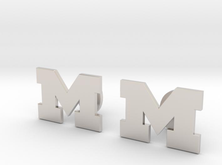 Univ of Michigan Cufflinks, Customizable 3d printed