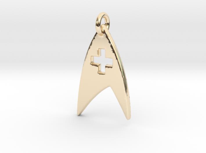 Star Trek - Starfleet Medical (Pendant) 3d printed