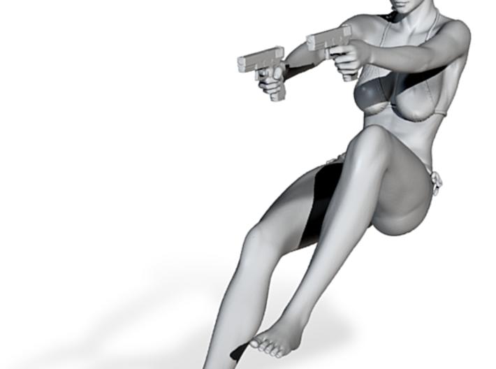 1:24 Female Warrior 001 3d printed