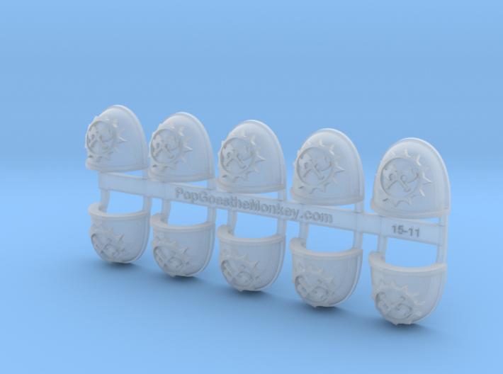 10x Gore Hunters - G:4a Shoulder Pads 3d printed