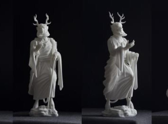 Beelzebub 3d printed Photographs of the final print in White Strong & Flexible