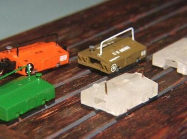 Scale Test Car Set - Z scale 3d printed Painted and Decaled by John Kellett