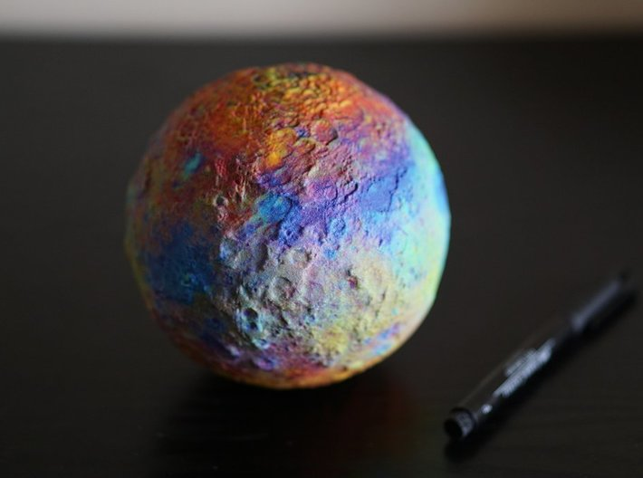 Ceres, False Colour 3d printed