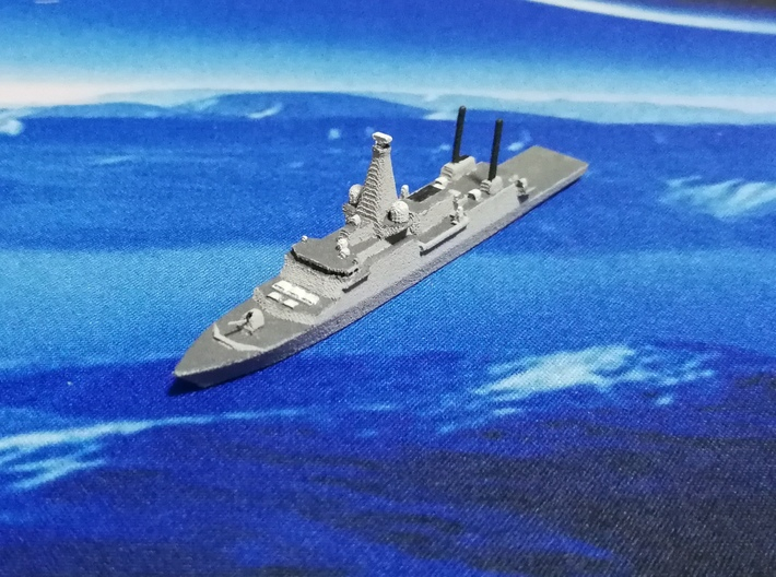 Type 26 frigate (2017 Proposal), 1/1800 3d printed Painted Sample