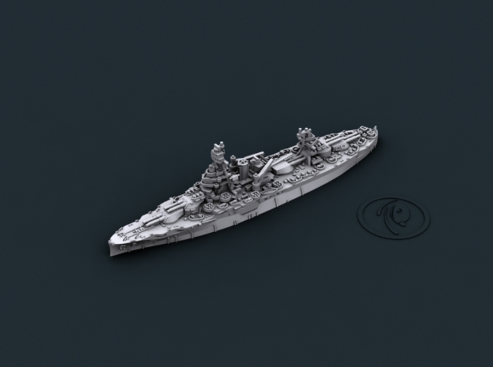 USN BB35 Texas[1944] 3d printed Computer software render