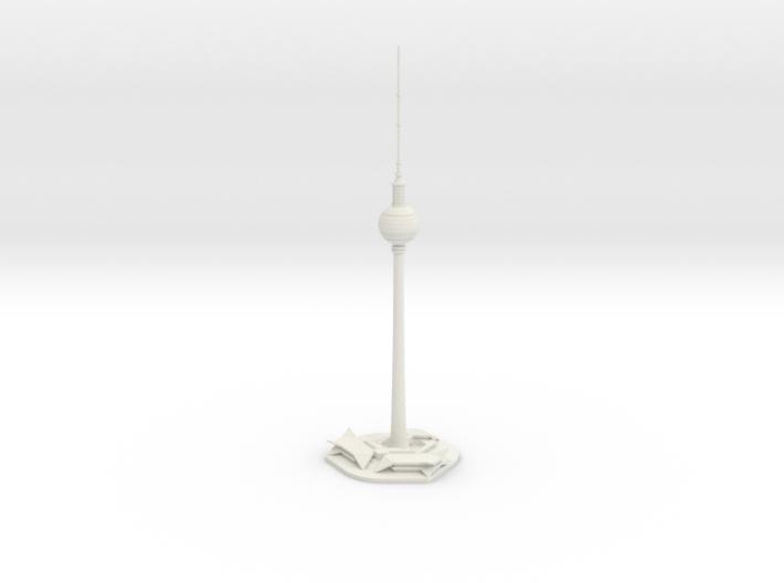 Berliner Fernsehturm (1:2000) 3d printed Assembled model.
