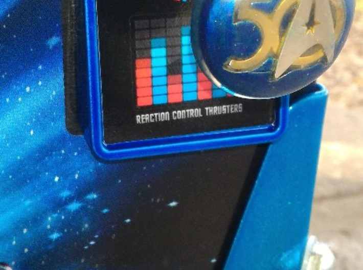 Star Trek 50 Shooter Knob R3 3d printed Installed Candy Electric Blue PowderCoat