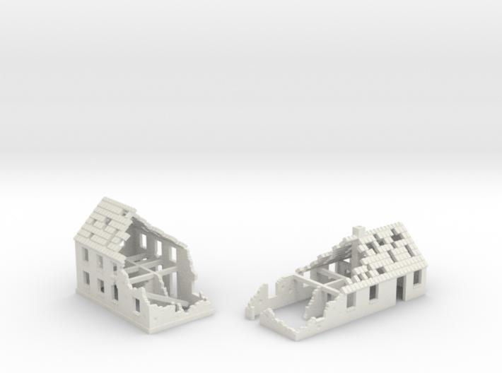 1:350 Ruins x2 3d printed