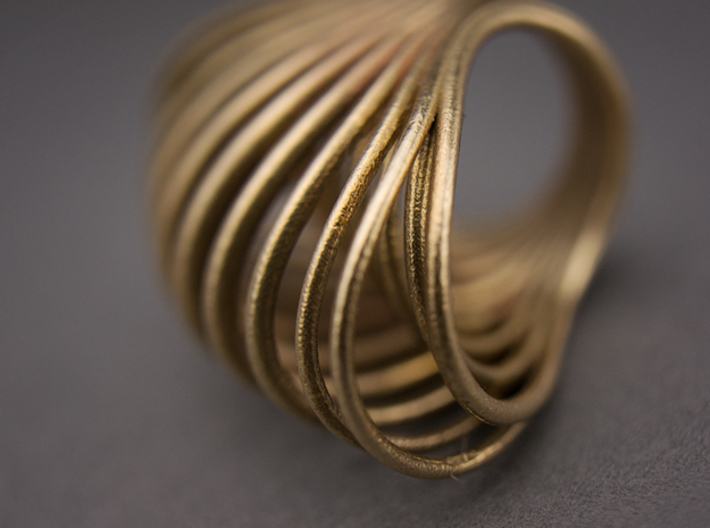 Ring 001 3d printed Raw Bronze