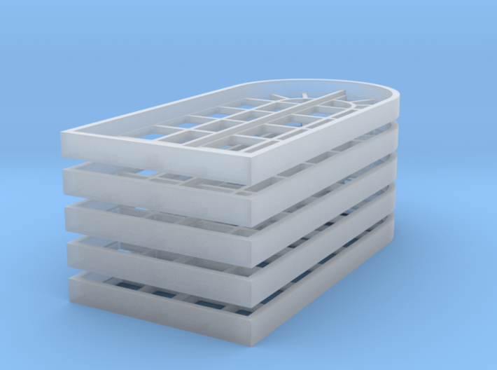 Factory Windows, 5x 3d printed