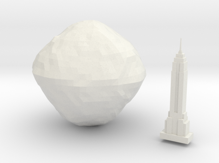 101955 Bennu & Empire State Building  3d printed