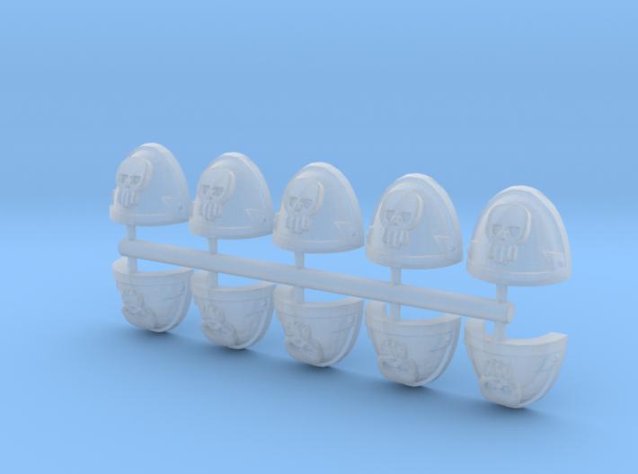 Skull Pauldrons Shoulder Pad Armor 28mm scale 3d printed