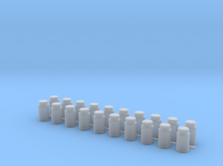 Eight Gallon (30 L) Cylindrical Milk Churn 3d printed