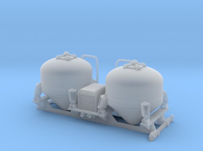 Bulk tank - Silo à ciment - Berliet GLR - HO 1:87 3d printed