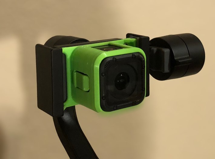 GoPro Session mount adapter for Smooth Q gimbal  3d printed Mounted onZhiyun-Tech Smooth Q gimbal