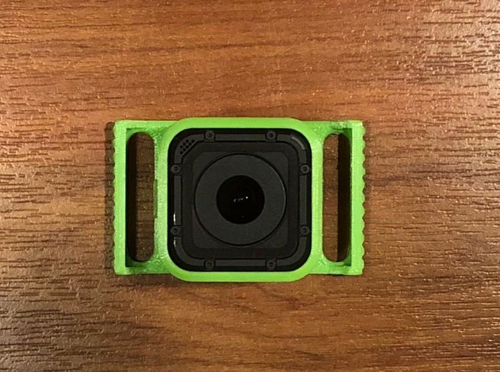 GoPro Session mount adapter for Smooth Q gimbal  3d printed My test print on PLA (shows visible print lines & rough surface).