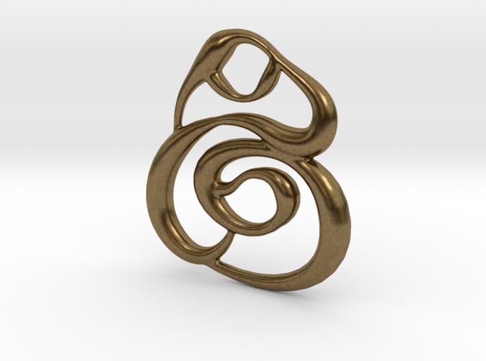 Swirly circles 3d printed