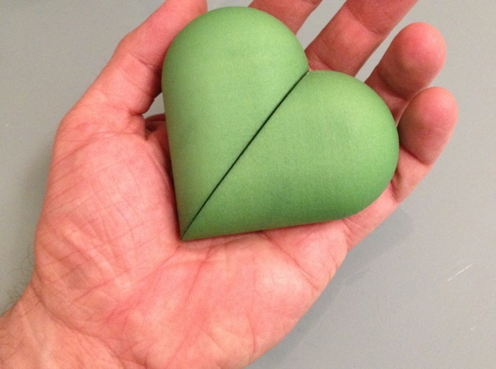 Heart Amulet Big - Inner Part 1 Photo 3d printed
