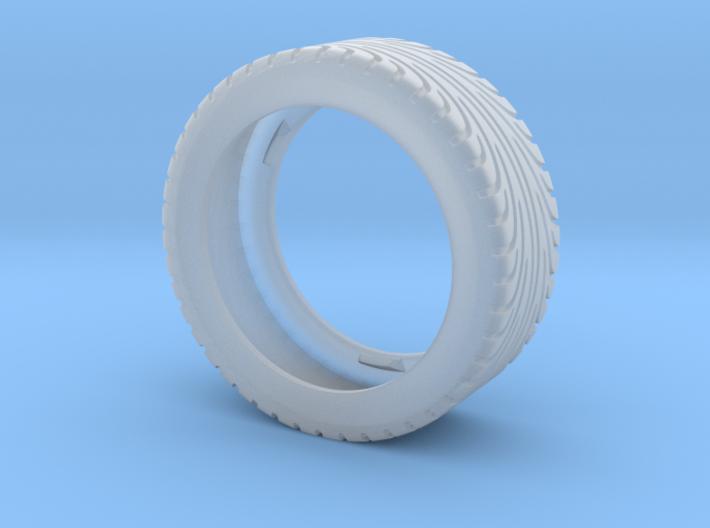 CATERHAM Tire Rear x1 Black Acrylic 1-12  3d printed