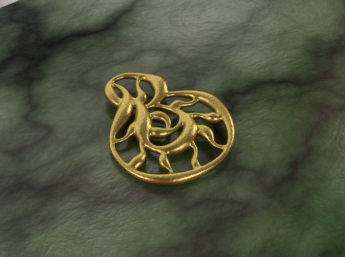Double wave 3d printed brass material
