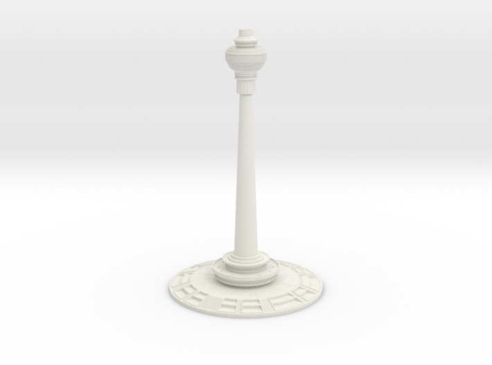 Central Radio & TV Tower (1:2000) 3d printed