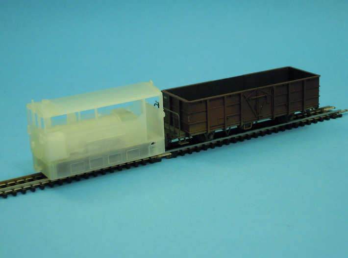 Freelance H0e tramway model loco 3d printed