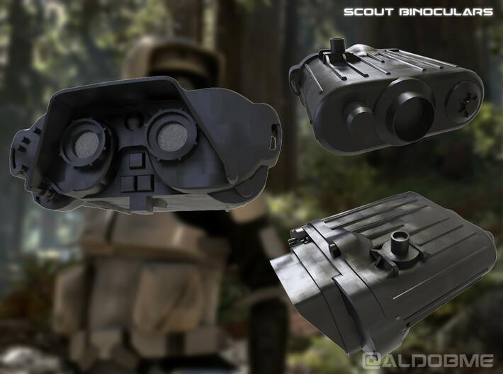 Imperial Binoculars 3d printed