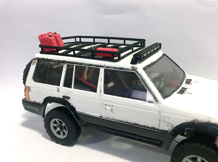 Orlandoo Jeep OH35A01 Roof Rack 3d printed Showing rack can work with  Pajero body