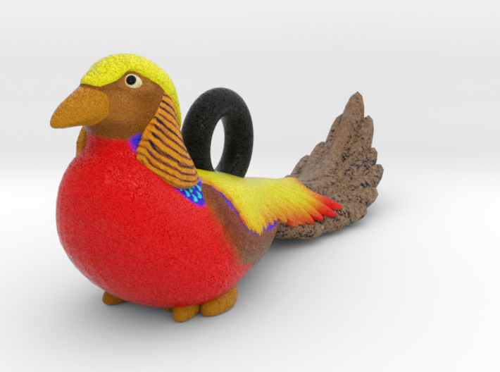 Golden Pheasant Ornament 3d printed