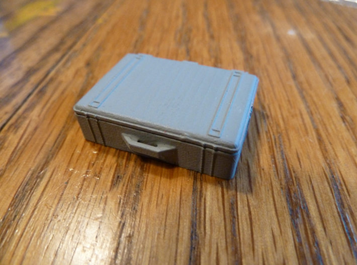 Pelican Case Complete 3d printed Frosted Ultra Detail painted with acrylic paint