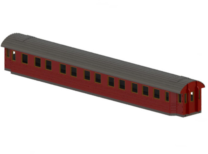ACo5 - Swedish passenger wagon 3d printed CAD-model