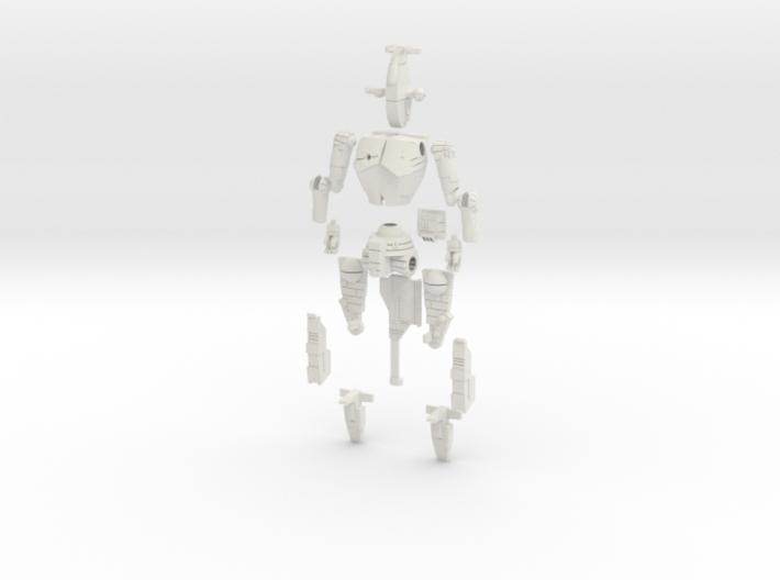 1/60 BattleMech Hatchetman in Parts 3d printed