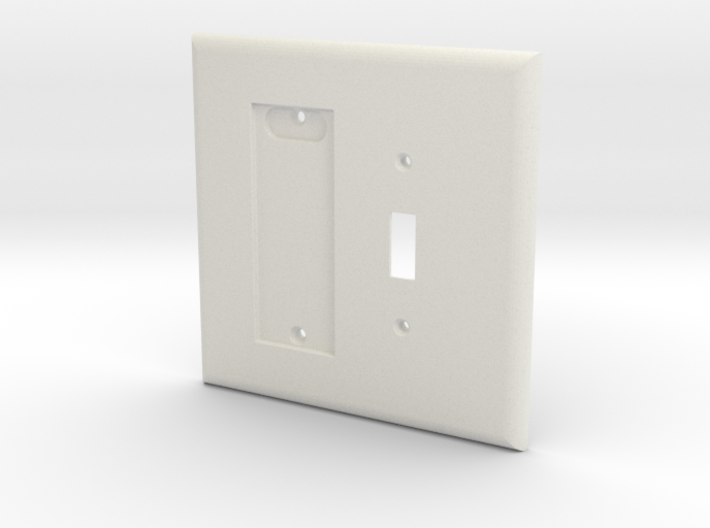 Philips HUE Dimmer 2 Gang Toggle Switch Plate 3d printed