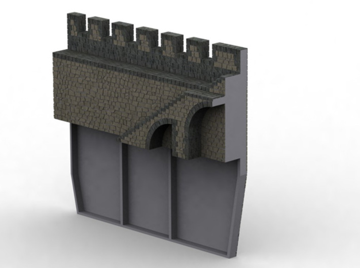 HOF032  - Castle wall 2 3d printed