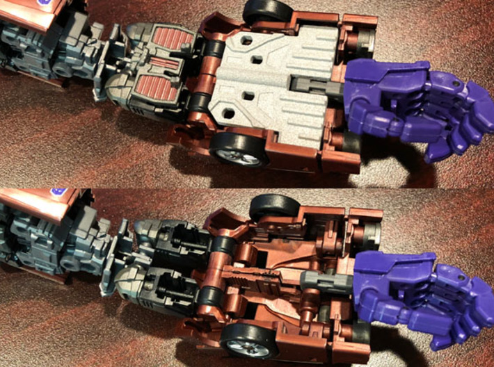 Arm filler for Fansproject Causality M3 Crossfire  3d printed With and without filler in place