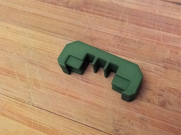 1 Slot Picatinny Wire Clip Rail Cover (10-Pack) 3d printed