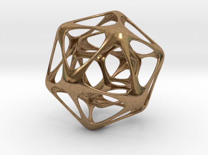 Icosahedron-dodecahedron Pendant 3d printed