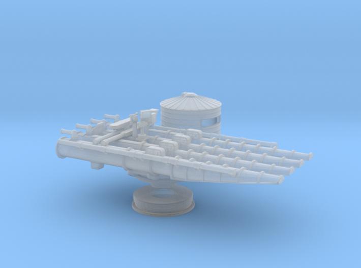 1/192 USS 21in Quadruple Tube Mounts 3d printed