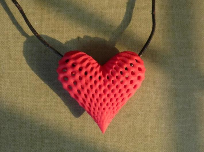 oh my heart ! 3d printed Photo red flexible