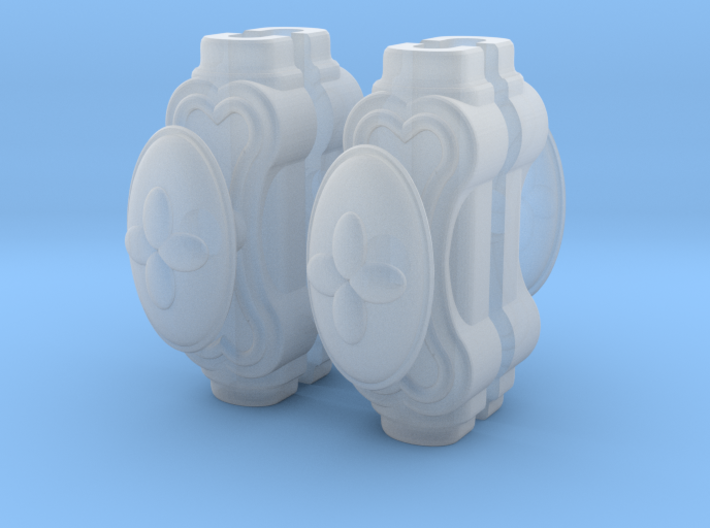 1:12 Window handles, oval, batch of 4 3d printed