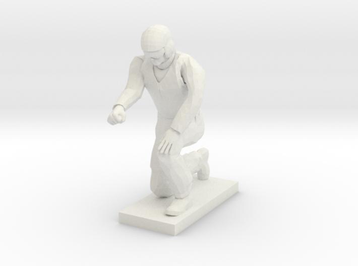 Ground Crew Kneeling 3d printed