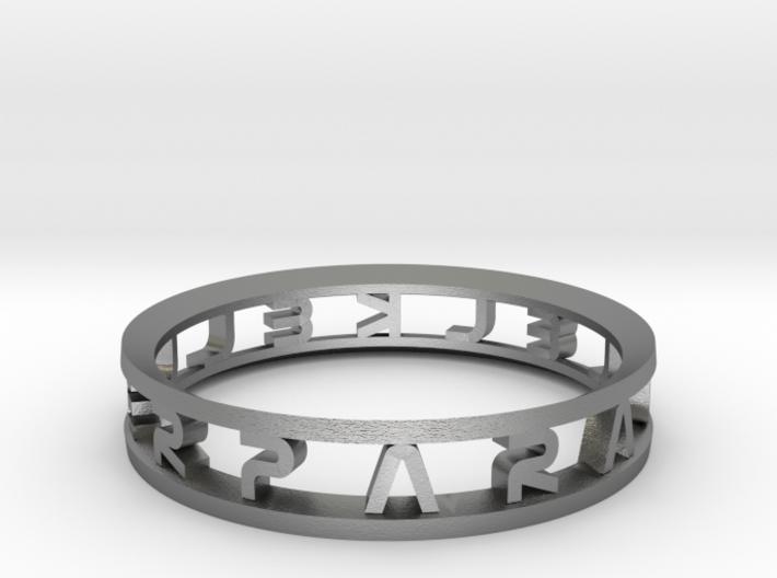 "Parallelkeller Ring ""Round'N'Round"" Intense 3d printed"