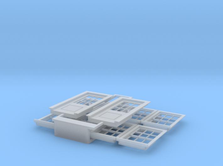 HO Scale windows and 7 foot standard doors 3d printed