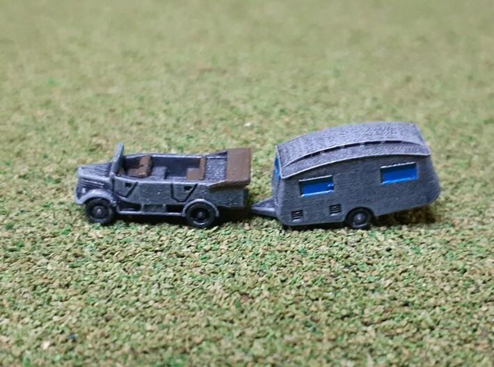 German Mercedes L1500A Truck & Caravan 1/285 3d printed