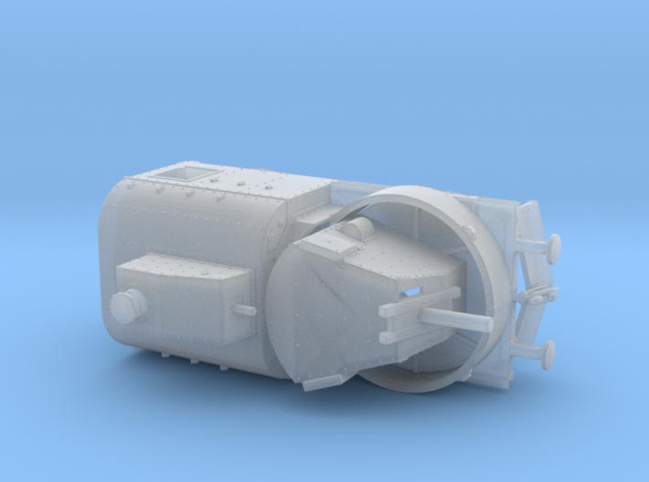1/144th scale Armoured traincar, gun carriage 3d printed