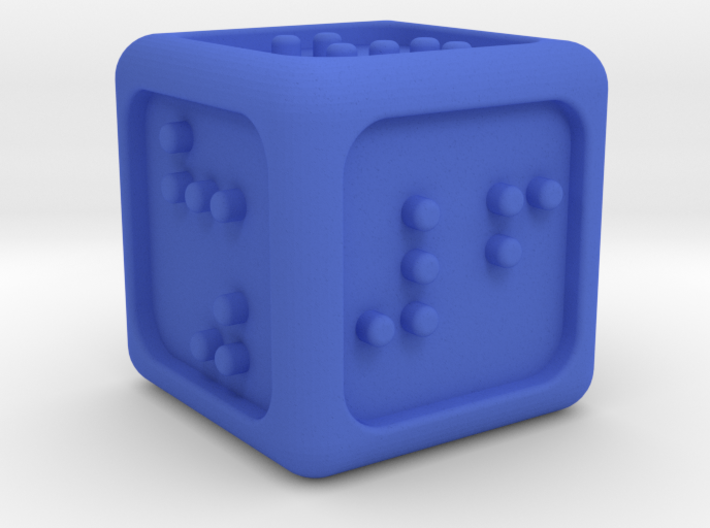 Braille Six-sided Die d6 (Rounded corners) 3d printed